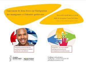 Affiche lancement des deux livres de Doudou sur l'intégration